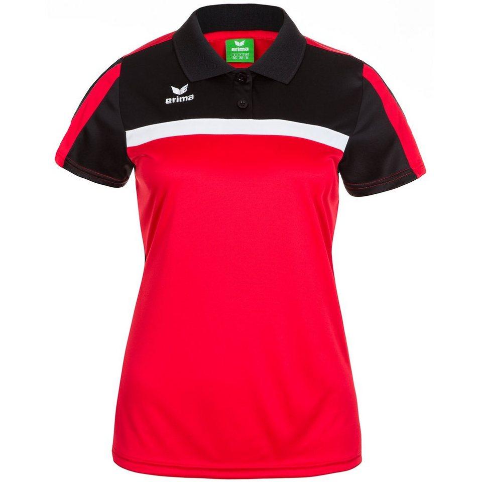 ERIMA 5-CUBES Poloshirt Damen in rot/schwarz/weiß