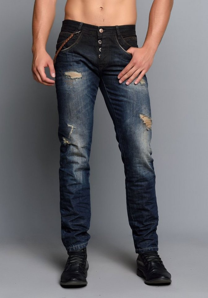 Cipo & Baxx Stylische Jeans in Dark Blue