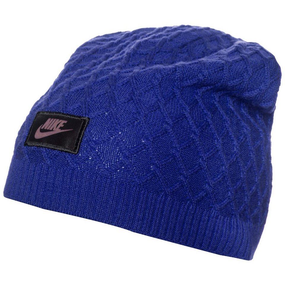 Nike Sportswear Cable Knit Beanie Herren in blau / schwarz