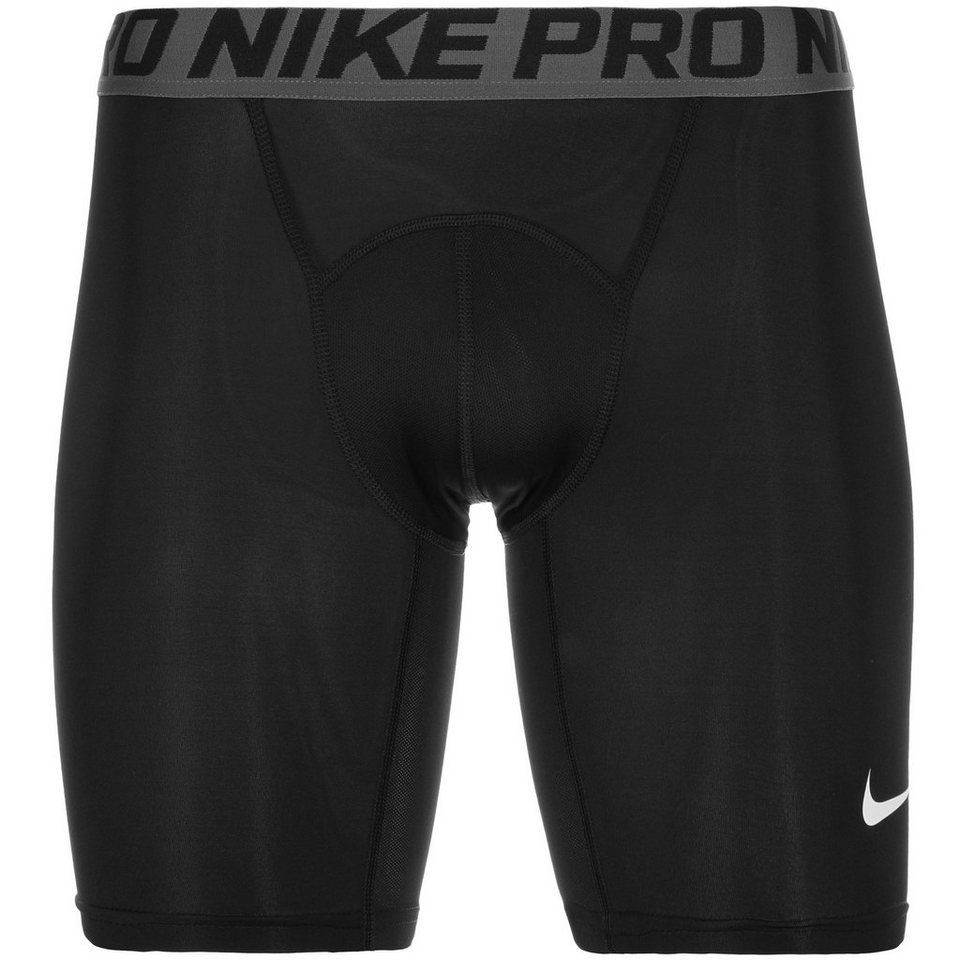 NIKE Pro Dry Compression Trainingstight Herren in schwarz / weiß