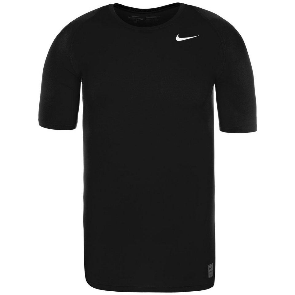 NIKE Pro Dry Compression Trainingsshirt Herren in schwarz / weiß