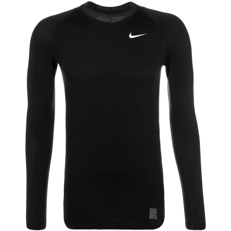 NIKE Pro Dry Compression Trainingsshirt Herren in schwarz / weiß