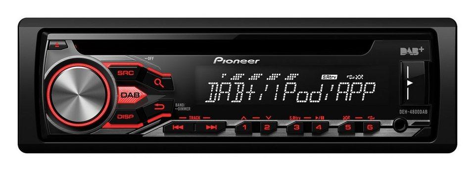 PIONEER 1-DIN Autoradio »DEH-4800DAB« in schwarz