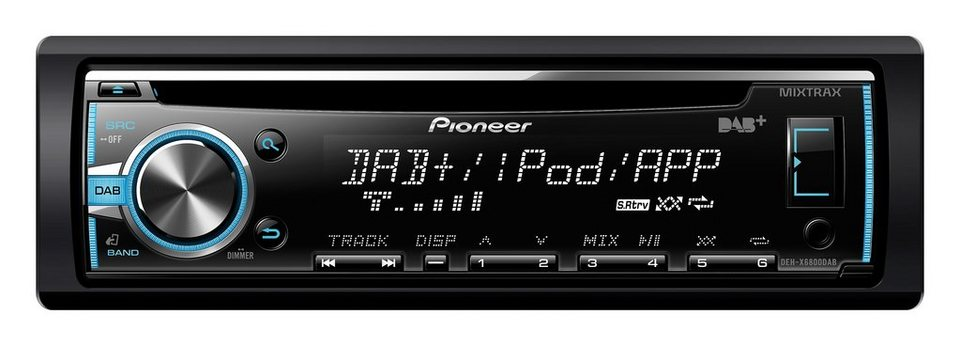 PIONEER 1-DIN Autoradio »DEH-X6800DAB« in schwarz