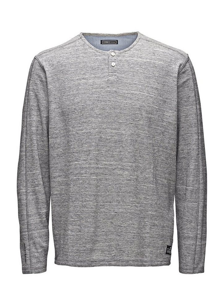 Jack & Jones Detailliert gestricktes T-Shirt in Light Grey Melange