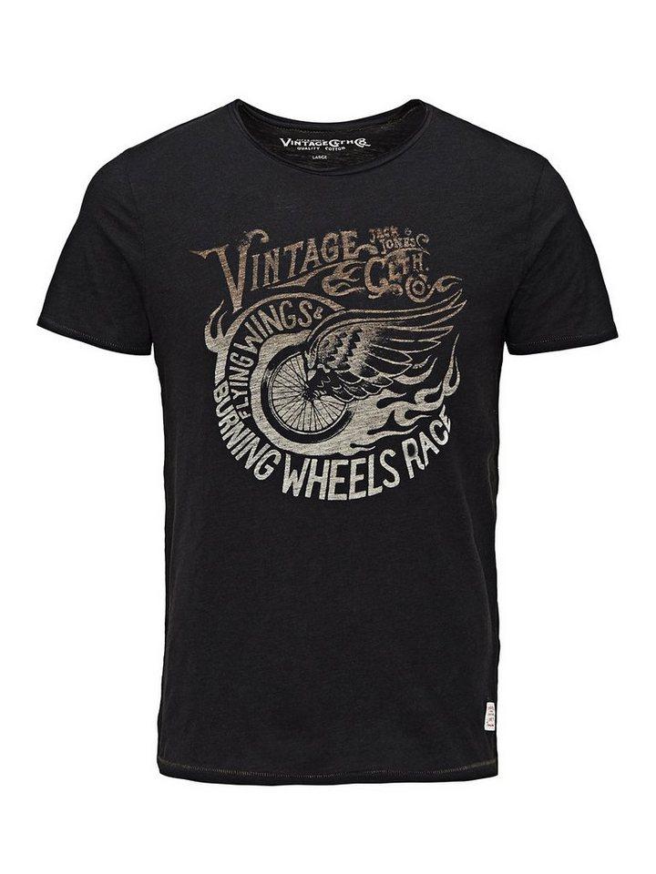 Jack & Jones Bedrucktes T-Shirt in Caviar