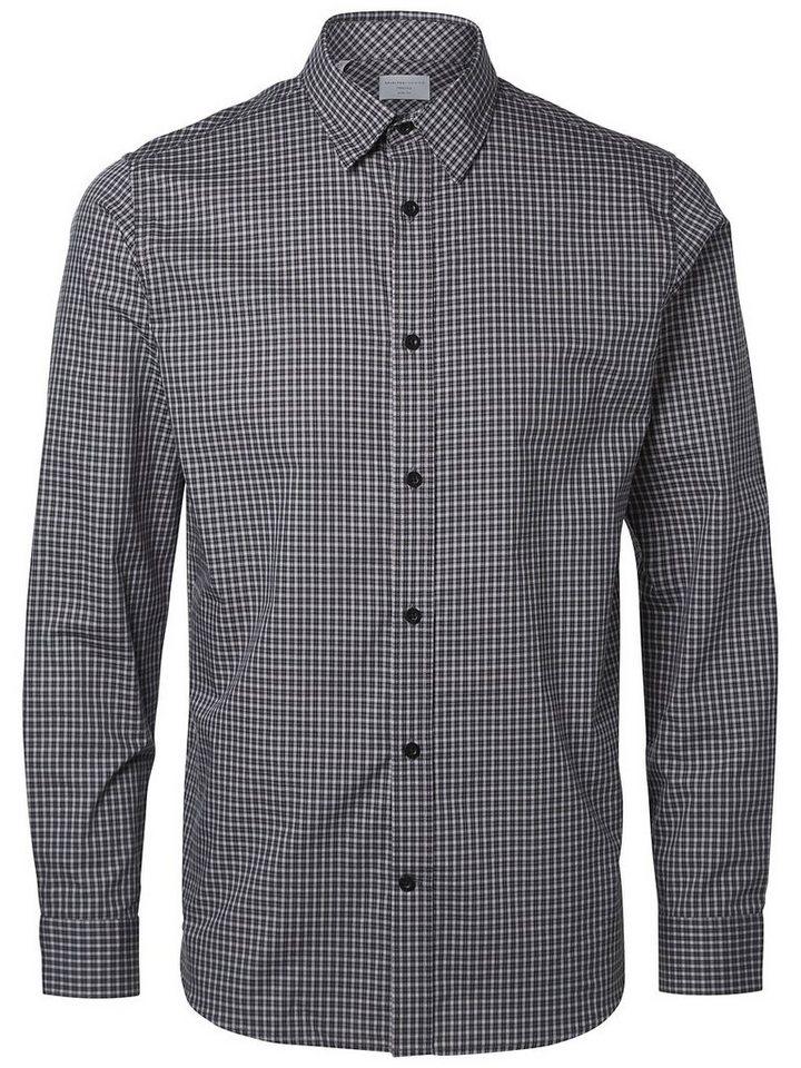 Selected Slim-Fit- Businesshemd in Vintage Indigo