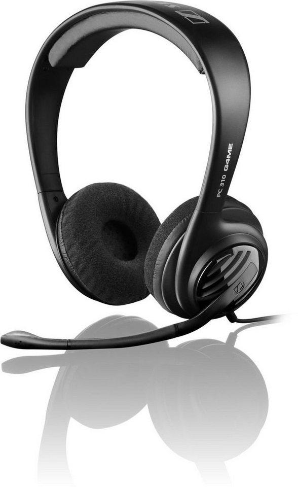Sennheiser Headset »Beidseitiges Headset mit Kopfbügel PC 310« in Schwarz