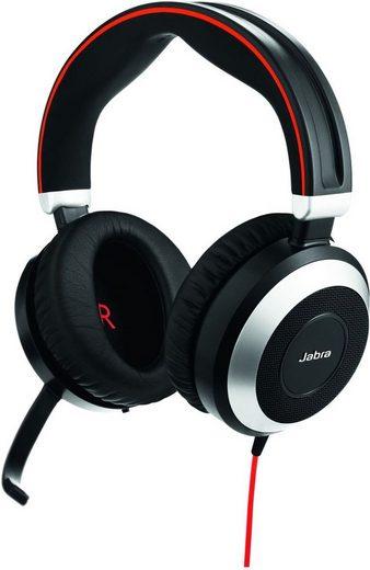 Jabra Headset »Evolve 80 UC Duo (nur Headset mit 3,5 mm Klinke)«