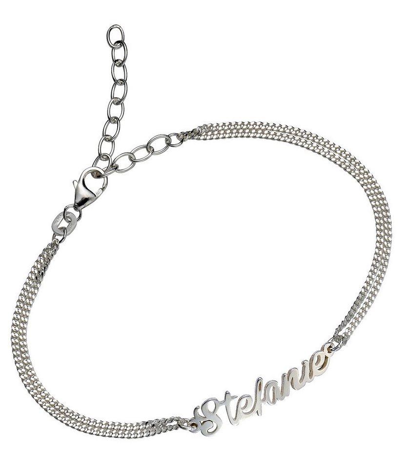 Firetti Armband »Namenskette als Armband in Panzerkettengliederung«   Schmuck > Halsketten > Namensketten   Firetti
