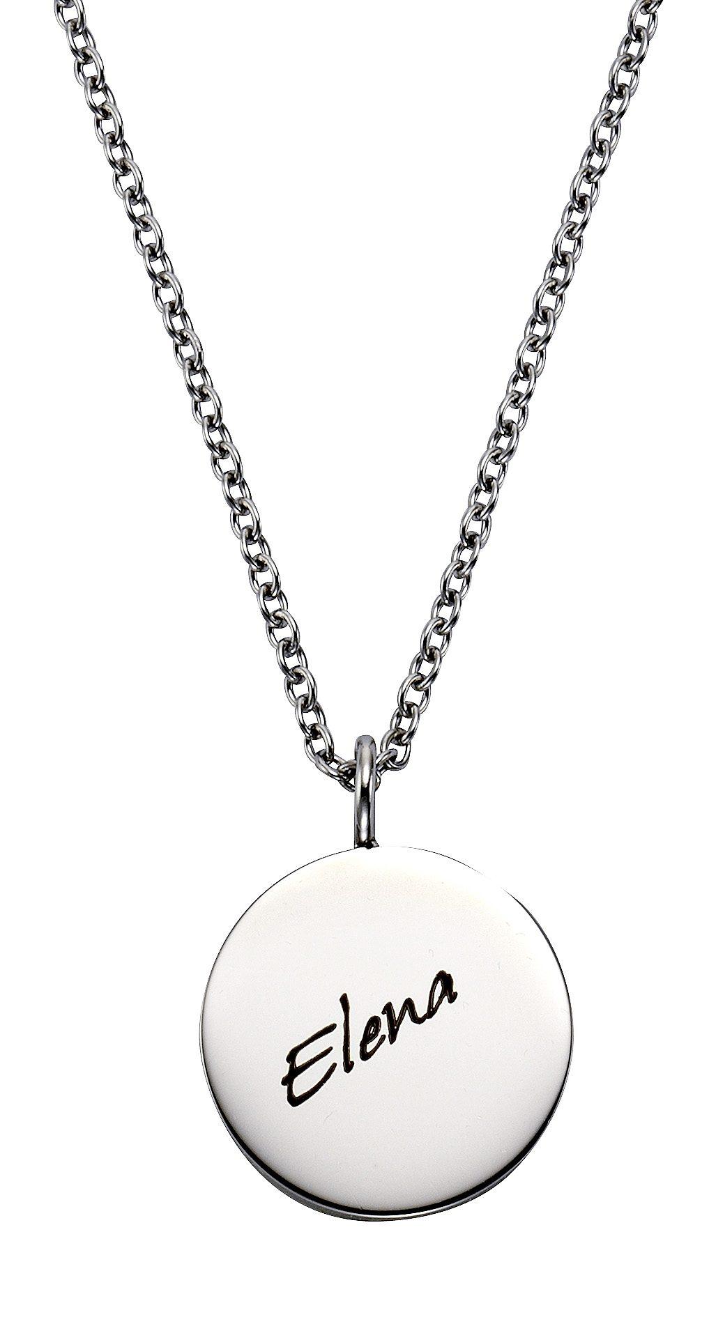 firetti Halsschmuck: Halskette in Ankerkettengliederung mit gratis Gravur, »Gravur Platte«