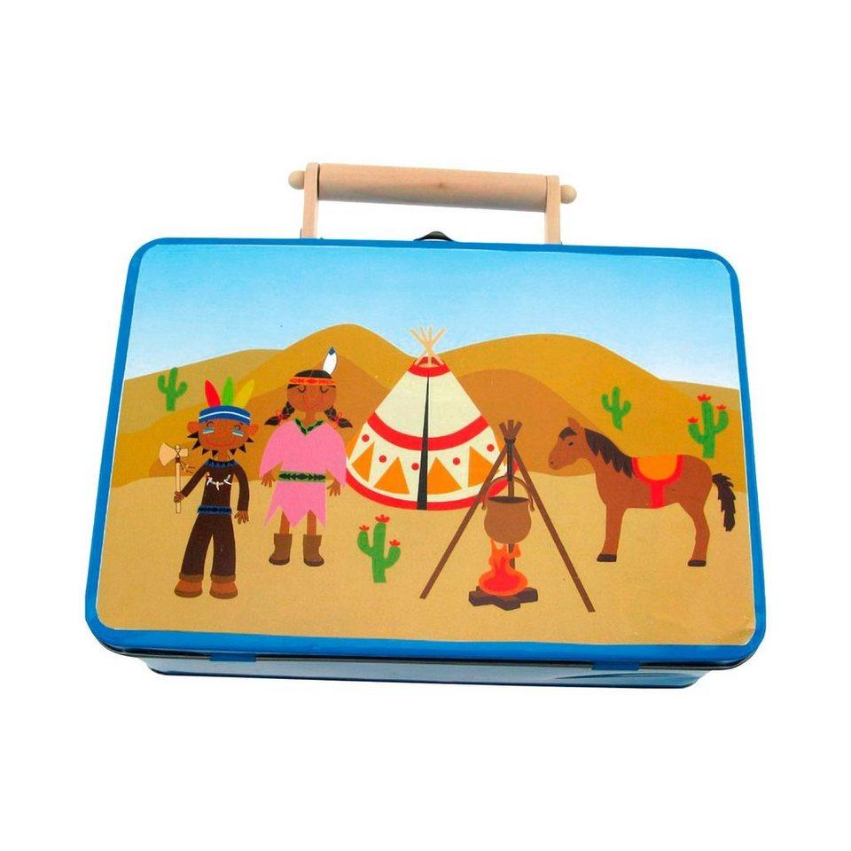 BINO Indianer-Koffer, 10-teilig in mehrfarbig