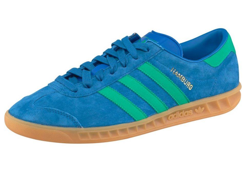 adidas Originals Hamburg Sneaker in Blau-Grün