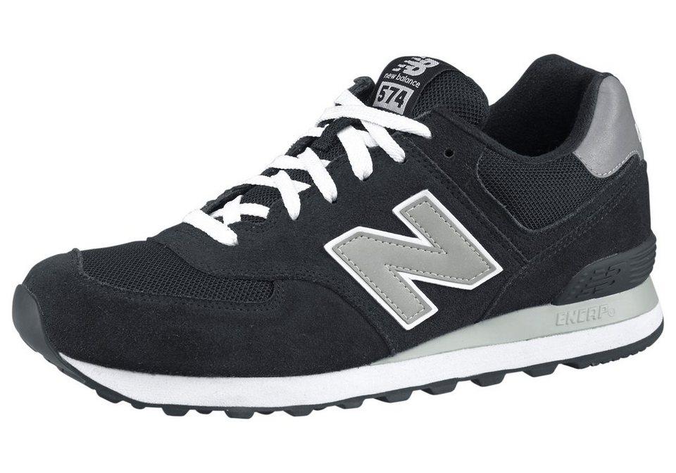New Balance M574 Sneaker in Schwarz-Silberfarben