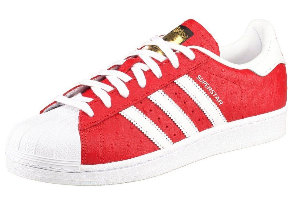 adidas Originals Superstar Animal Sneaker in Rot-Weiß