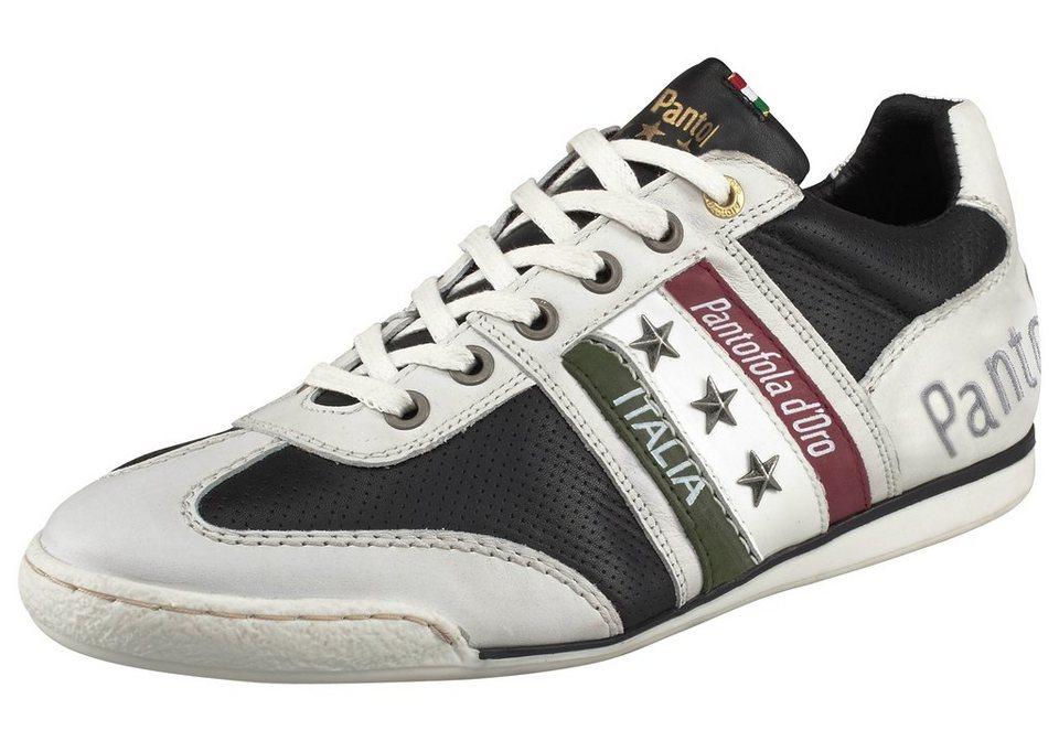 Pantofola d´Oro Ascoli Piceno Low Sneaker in Weiß-Schwarz