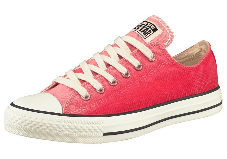 Converse Chuck Taylor All Star Sunset Wash Ox Sneaker in Rot