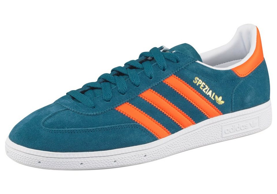 adidas Originals Spezial Sneaker aus robustem Wildleder-Obermaterial in Petrol-Orange
