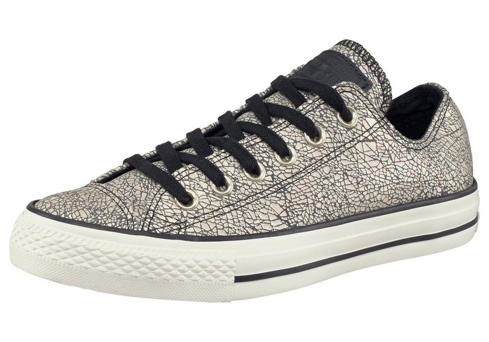 Converse Chuck Taylor All Star Oil Slick Leather Sneaker in Schwarz-Ecru