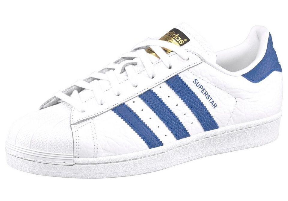 adidas Originals Superstar Animal Sneaker in Weiß-Blau
