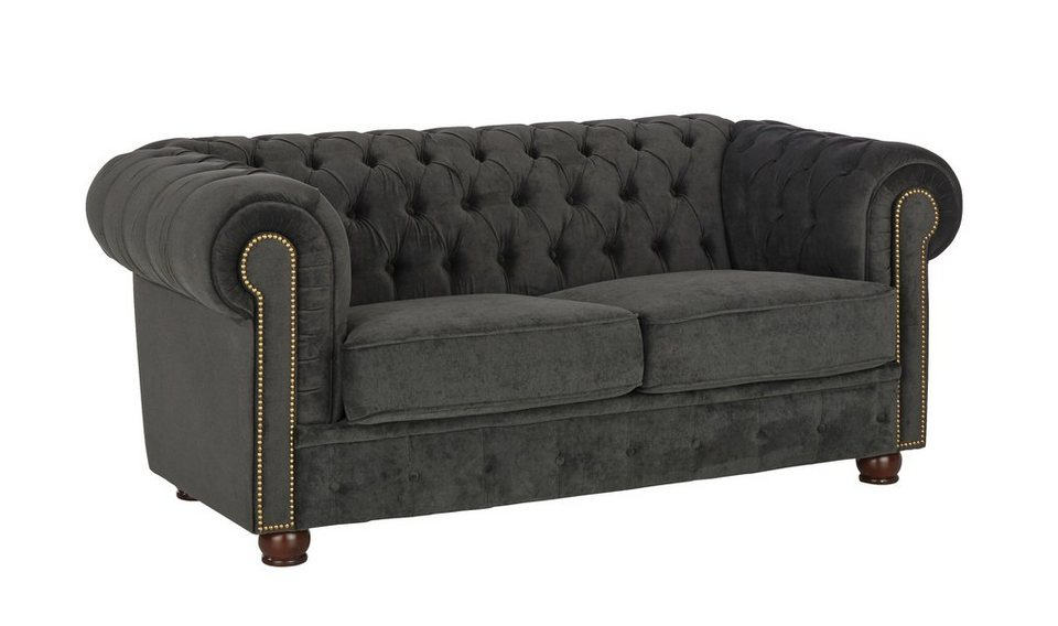chesterfield ecksofa stoff grau. Black Bedroom Furniture Sets. Home Design Ideas