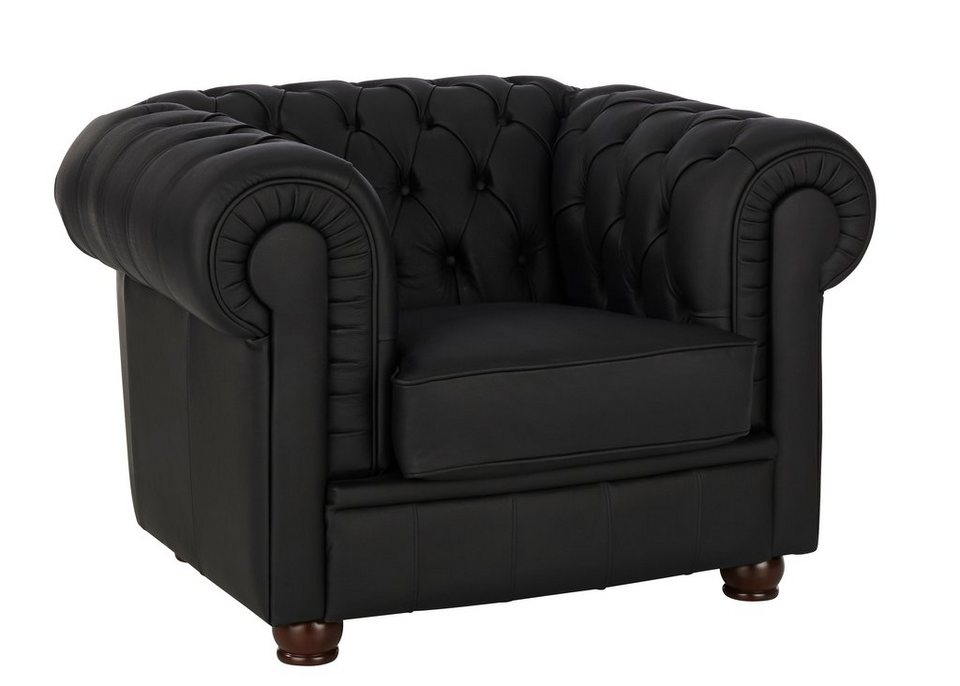 max winzer chesterfield sessel kent mit edler. Black Bedroom Furniture Sets. Home Design Ideas