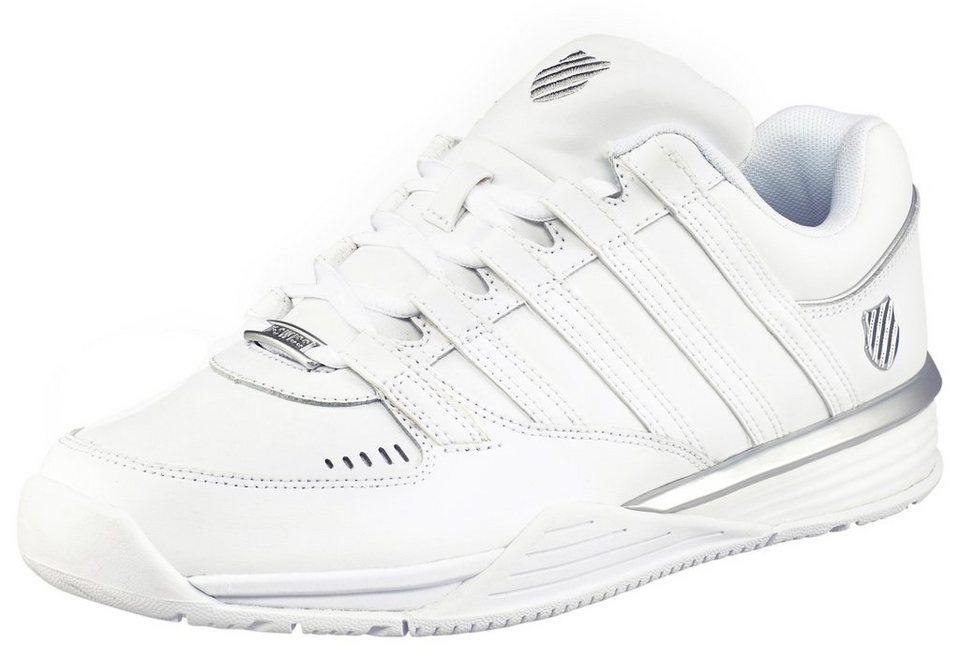K-Swiss Baxter Sneaker in Weiß-Silberfarben