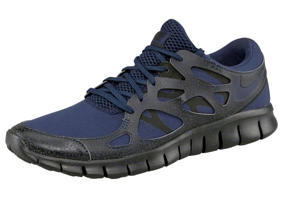 Nike Sportswear Free Run 2 Premium Sneaker in Dunkelblau-Schwarz