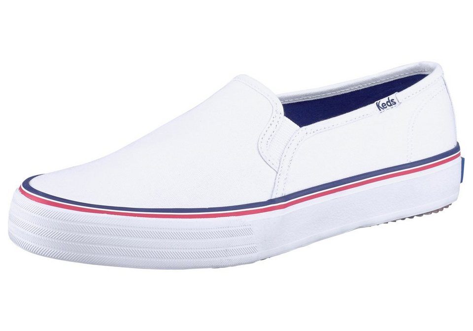 Keds Double Decker Solids Sneaker in Weiß