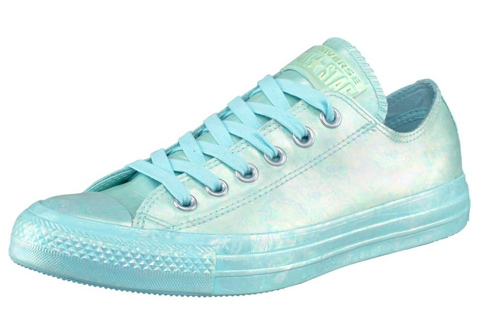 Converse CTAS Rubber Oil Slick Sneaker in Hellblau