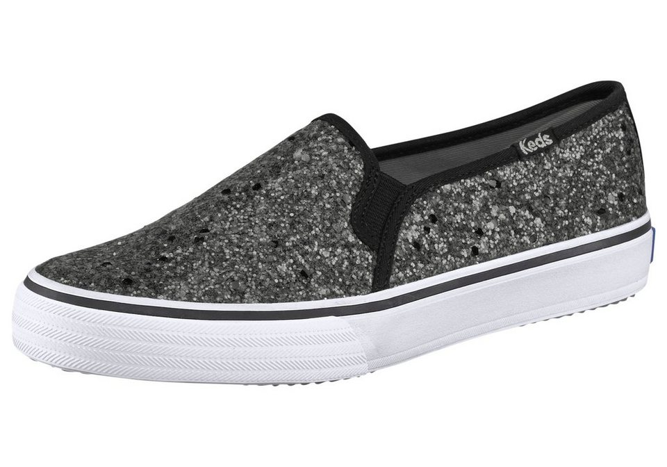Keds Double Decker Glitter Sneaker in Silberfarben