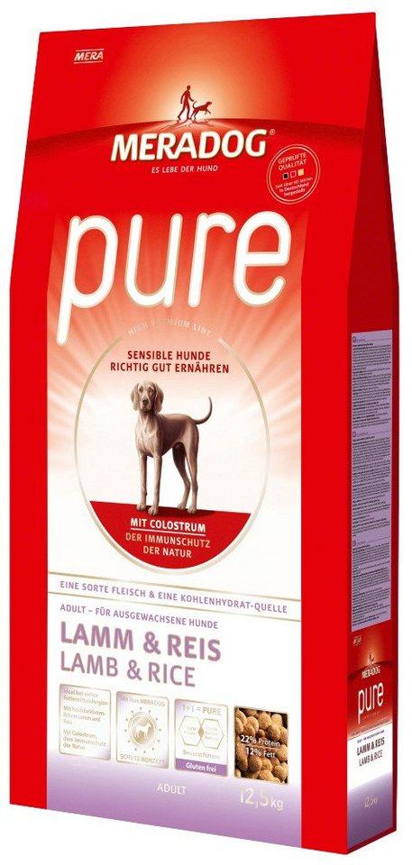 Hundetrockenfutter »Pure Lamm & Reis«, 12,5 kg in braun