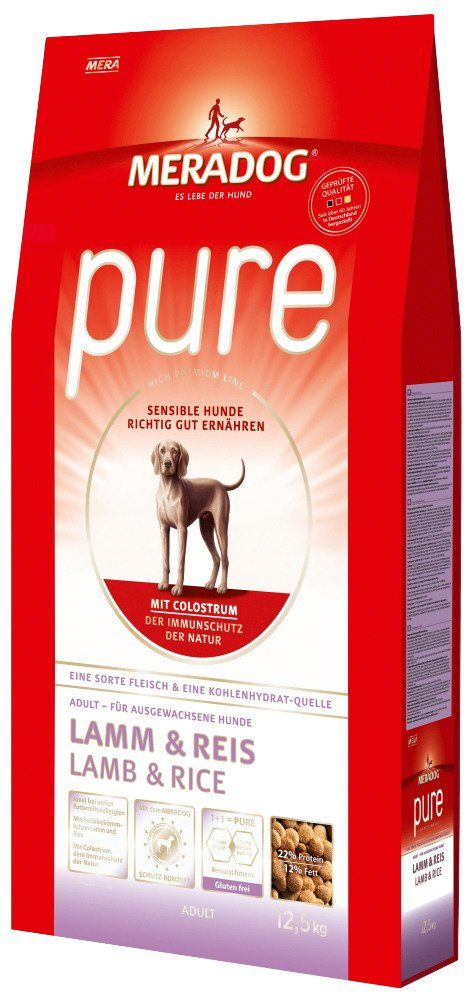 Mera Dog Hundetrockenfutter »Pure Lamm & Reis«, 12,5 kg