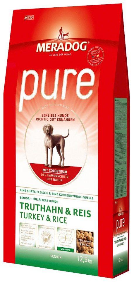 Hundetrockenfutter »Pure Senior Truthahn & Reis«, 12,5 kg in braun