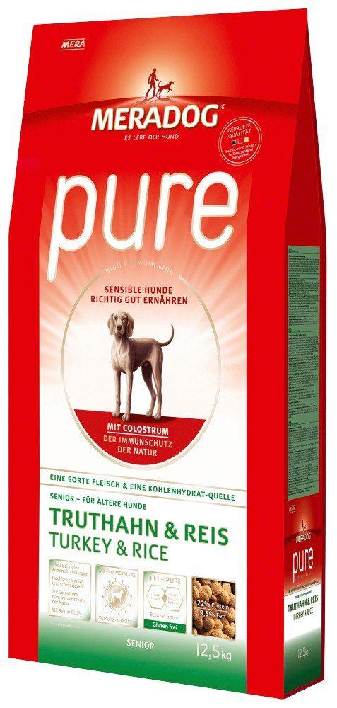 Hundetrockenfutter »Pure Senior Truthahn & Reis«, 12,5 kg