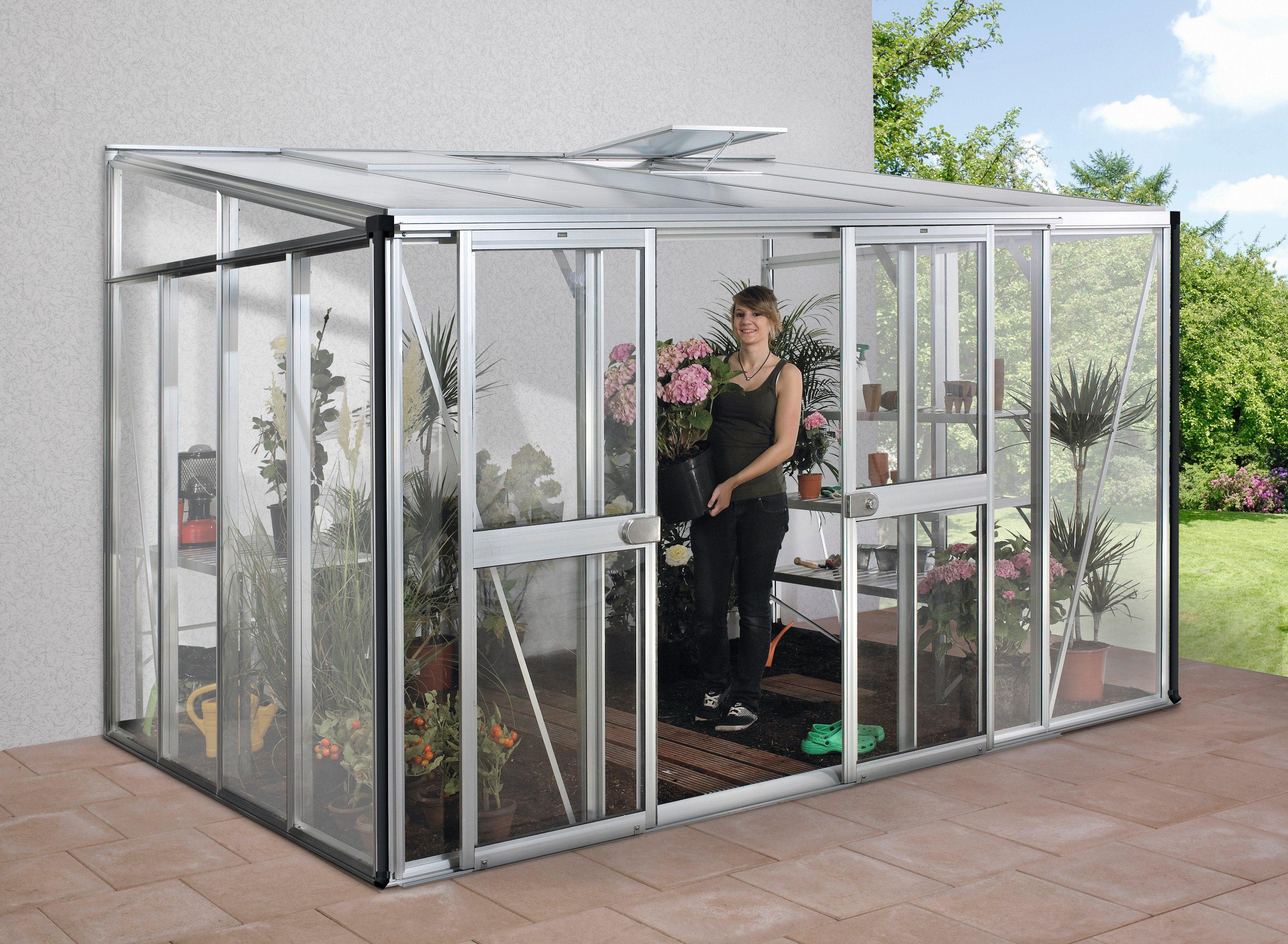 VITAVIA Anlehngewächshaus »Helena 8600«, BxTxH: 344 x 268 x 239 cm, in 2 Farben | Garten | Vitavia
