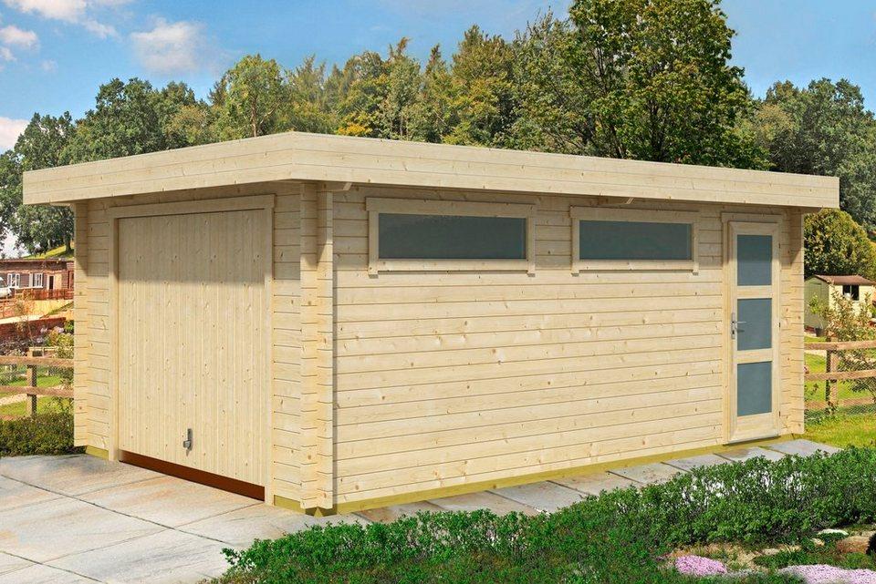 Einzel-Garage »Panama«, BxT: 422x600 cm, 44 mm in natur