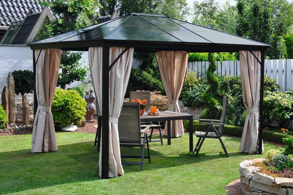 leco pavillon mit seitenteilen profi bxl 300x365 cm. Black Bedroom Furniture Sets. Home Design Ideas