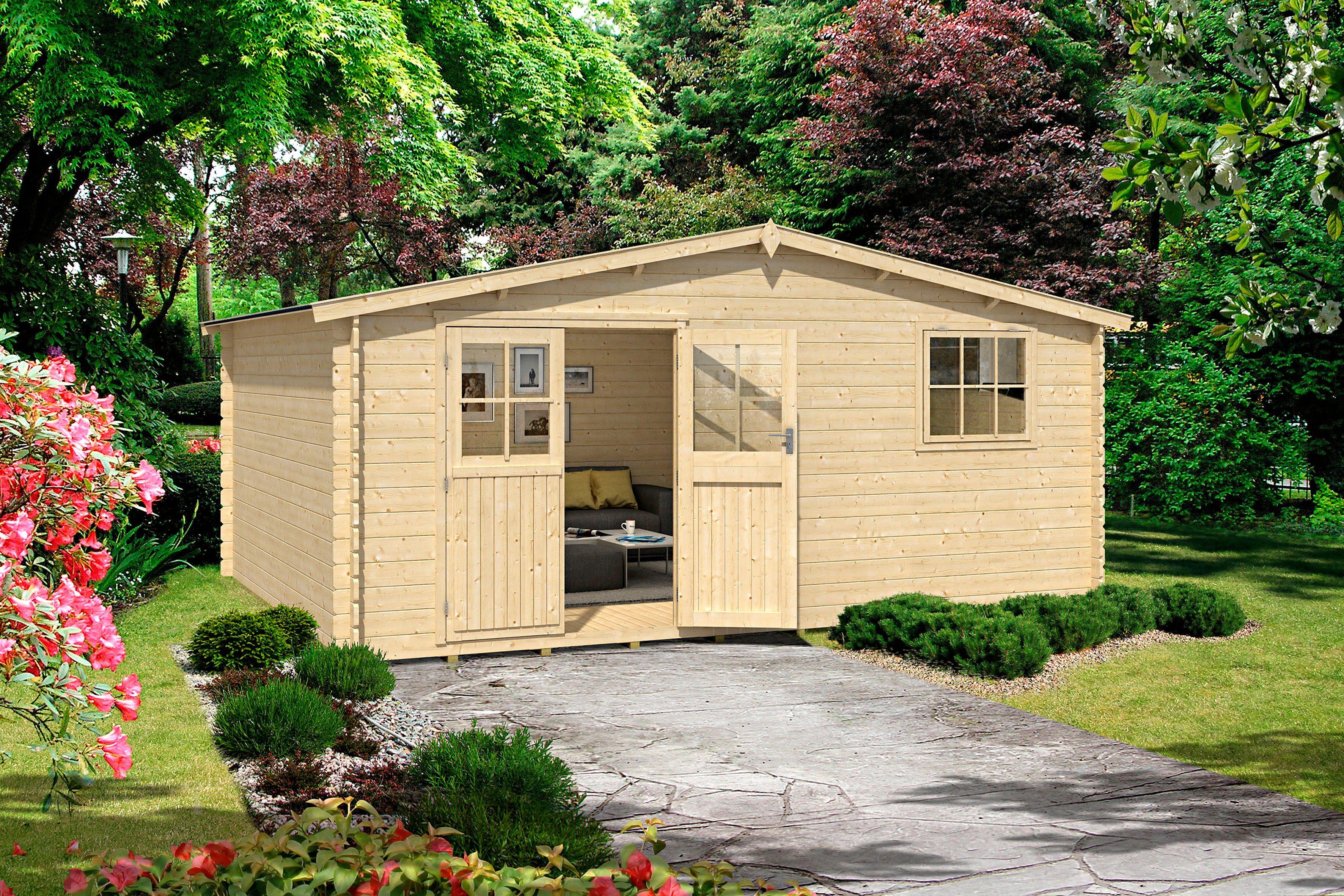 OUTDOOR LIFE PRODUCTS Gartenhaus »Mosel 5«, BxT: 480x400 cm, 28 mm