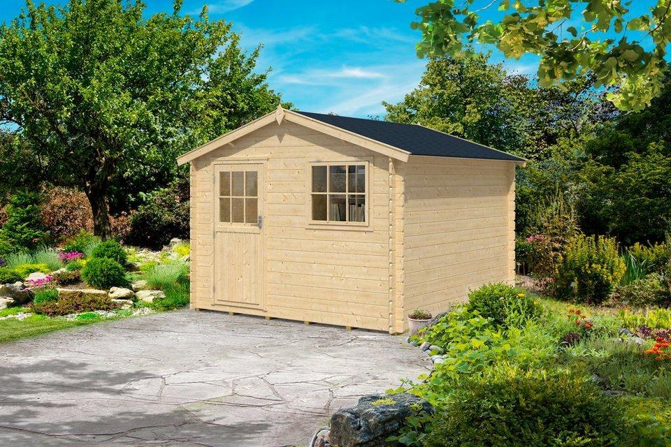Gartenhaus »Mosel 3«, BxT: 300x300 cm in natur