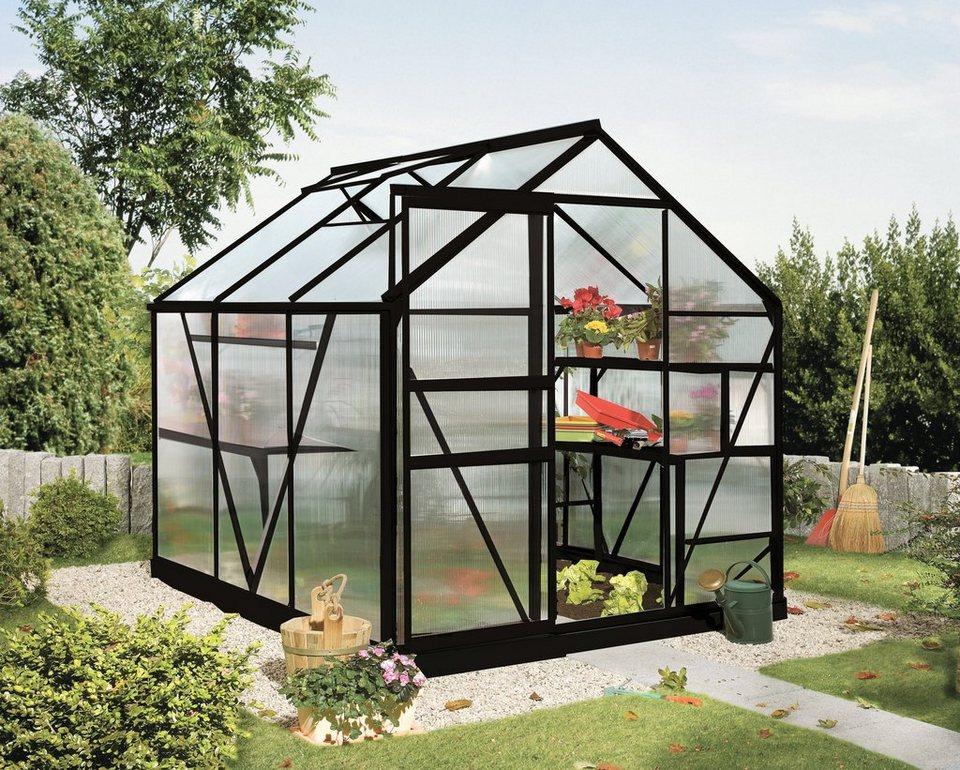 VITAVIA Gewächshaus »Calypso 4400«, BxT: 192x228 cm, schwarz in schwarz