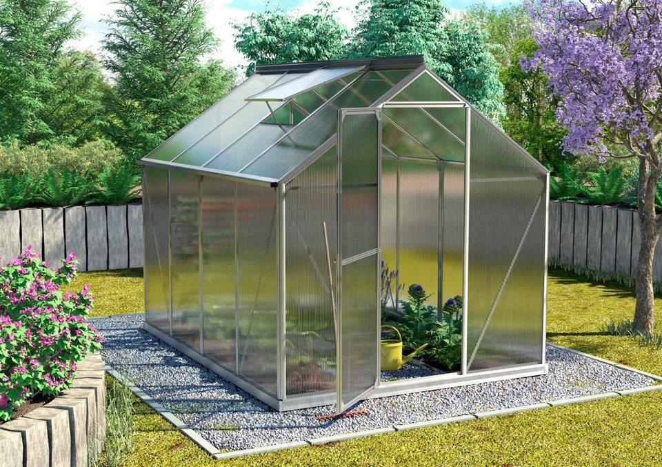 vitavia sparset gew chshaus triton 5000 190x254x207 cm silber 6 mm mit fundamentrahmen. Black Bedroom Furniture Sets. Home Design Ideas
