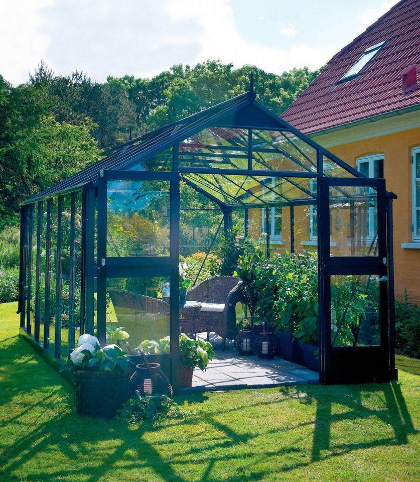 Juliana Gewächshaus »Premium 8,8«, BxT: 296x296 cm, anthrazit in anthrazit