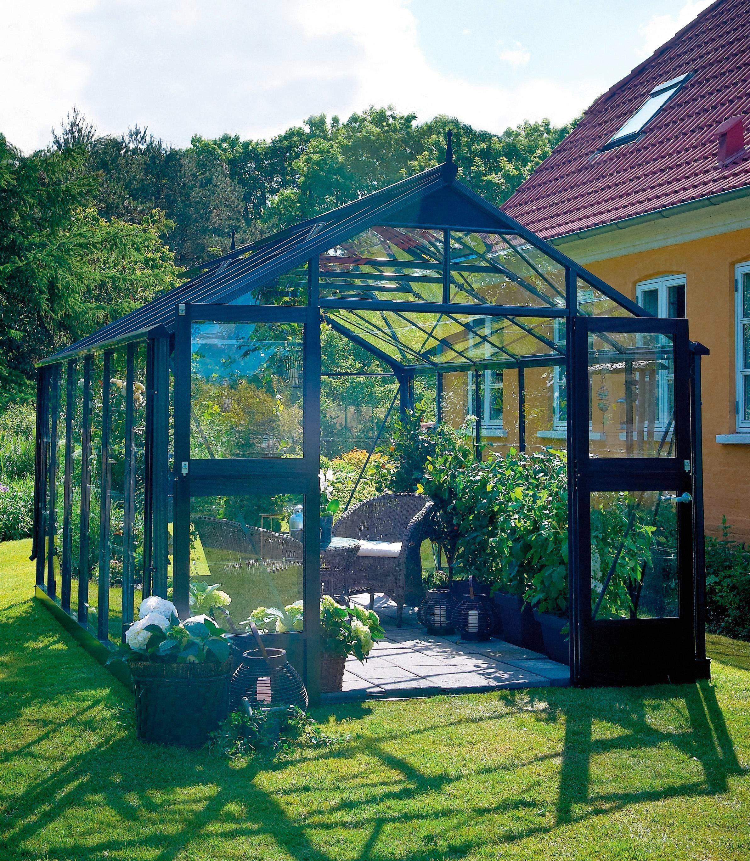 JULIANA Gewächshaus »Premium 8,8«, BxT: 296x296 cm, anthrazit