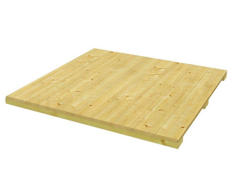 Fußboden für Gartenhäuser »CrossCube«, Größe 3 in natur