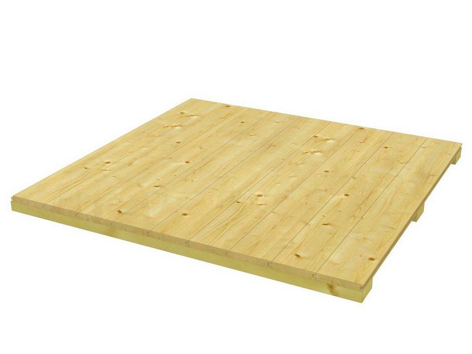 Fußboden für Gartenhäuser »CrossCube«, Größe 2 in natur