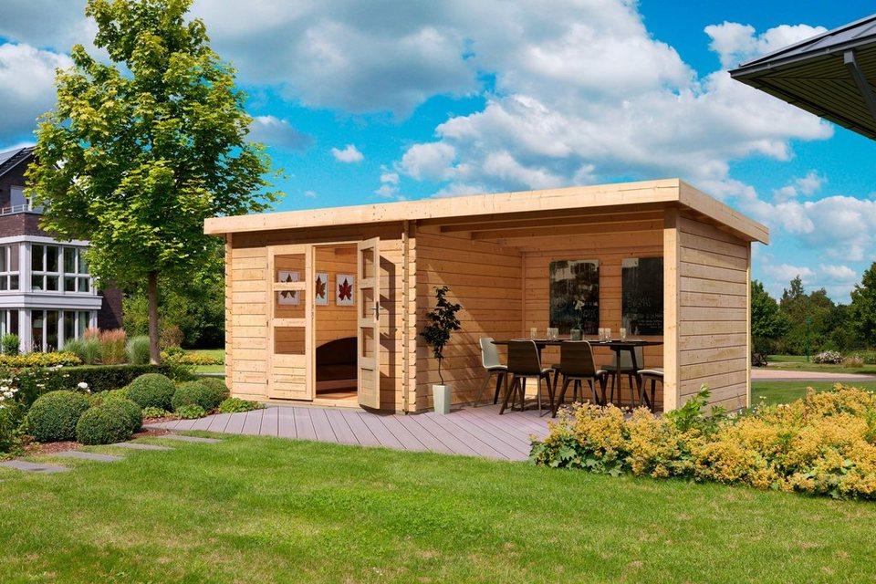 Komplett-Set: Gartenhaus »Ringköbing 3«, inkl. Aufbau, BxT: 280x220 cm in natur