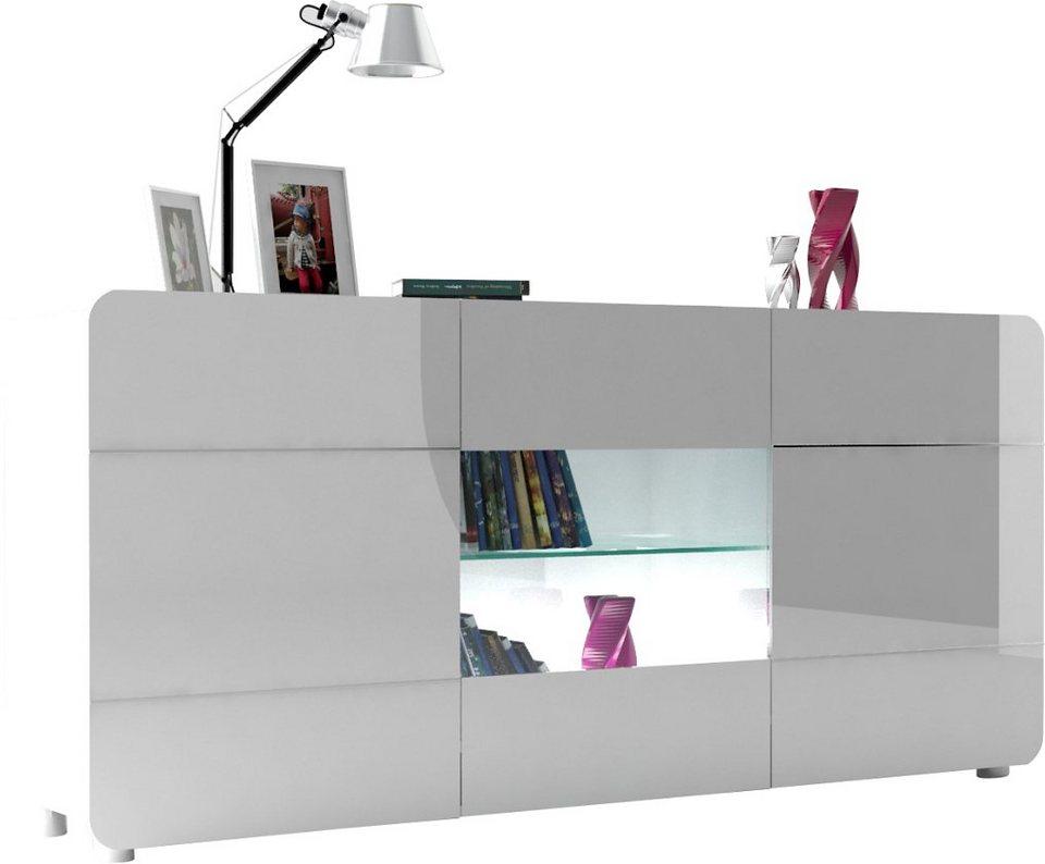 S.C.I.A.E. Sideboard »Bump«, Breite 150 cm in weiß Hochglanz