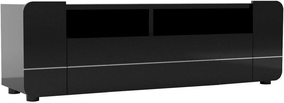 S.C.I.A.E. Lowboard »Bump«, Breite 150 cm in schwarz Hochglanz