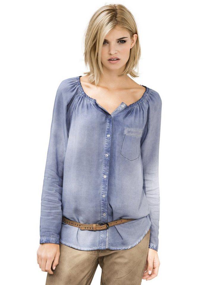 Bluse in jeansblau